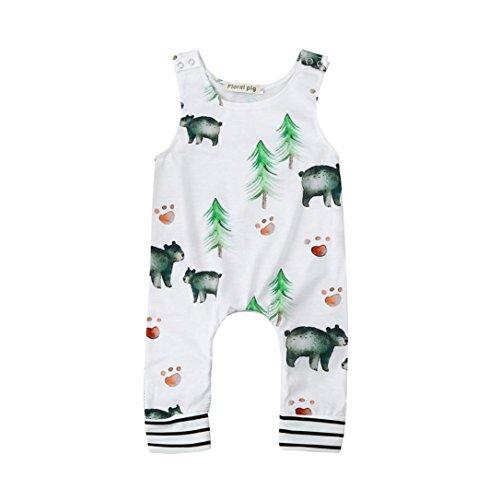 Top-Qualität LCLrute Lovely Kleinkind Neugeborene Baby Jungen Mädchen Bär Bäume Spielanzug Overall Outfits Kleidung (80) (Bib Tarnung)