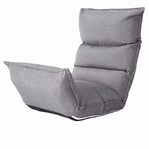 Schlafzimmer Liege (Faule Couch Lazy Couch Faltbare Einzel Stuhl abnehmbare waschbare Stoff Liege niedlichen Schlafzimmer kreative Balkon (Farbe : Gray))
