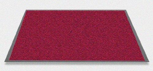 Mars waschbare robuste Schmutzfangmatte 60 x 90 cm. Farbe rot. Verfuegbar in 7 Farben und 6 Groessen. Hergestellt in Westeuropa.