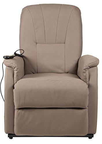 Duo Collection Fernseh-TV-Sessel Edmonton, Aufstehhilfe, Motor, Liegefunktion, stufenlos elektrisch verstellbar, Fernbedienung, Stoff-Bezug Amarillo-Mikrofaser, schlamm-farben
