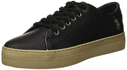 U.S.POLO ASSN. Damen Violet Sneaker, Schwarz (Black BLK), 38 EU Blk Pu Shoe
