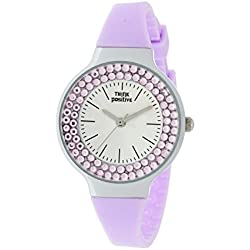 Ladies' THINK POSITIVE® Model SE W262 Steel Strap Of Silicone Color Lilac