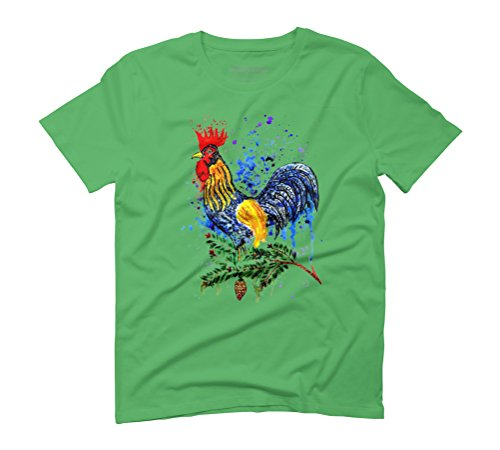 Blue Rooster Men's Graphic T-Shirt - Design By Humans Green