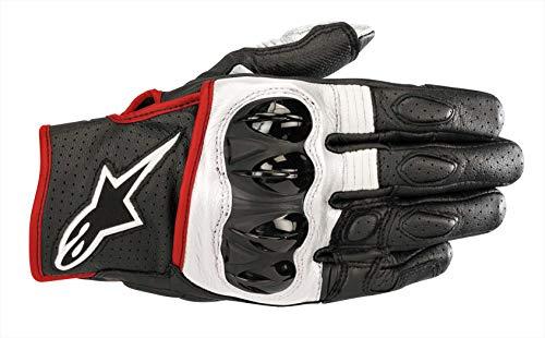 Alpinestars 35670181231-M Motorrad Handschuhe, Schwarz/Weiss/Rot, M
