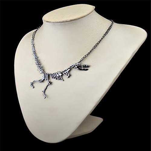 Chlyuan Halskette für Frauen Frauen Teens Dinosaurier Retor Vintage Halskette kurzen Kragen Mode Kostüm Schmuck Boutique Pullover Anhänger (Farbe : ()