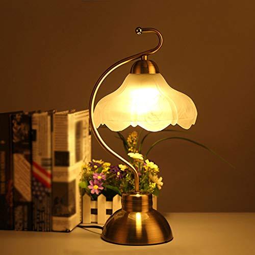 Nachttischlampe, Glas Lampenschirm Für Frauen Studie lesen Schreibtischlampe Restaurant Dekoration Schreibtischlampe Cafe Haushalt Villa,A