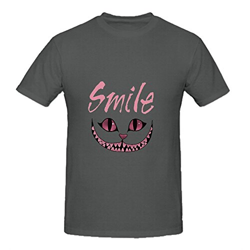 smile-cheshire-cat-mens-crew-neck-slim-fit-t-shirts-grey
