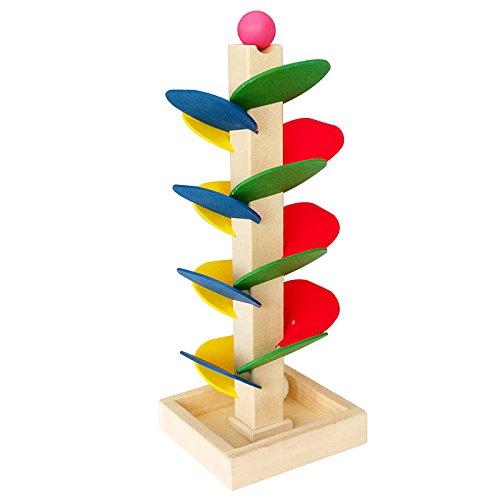 Kinder Holz Baum Blöcke Marmor Ball Run Track Spiel Baby Intelligenz Frühe Pädagogisches Spielzeug (Marmor Track)