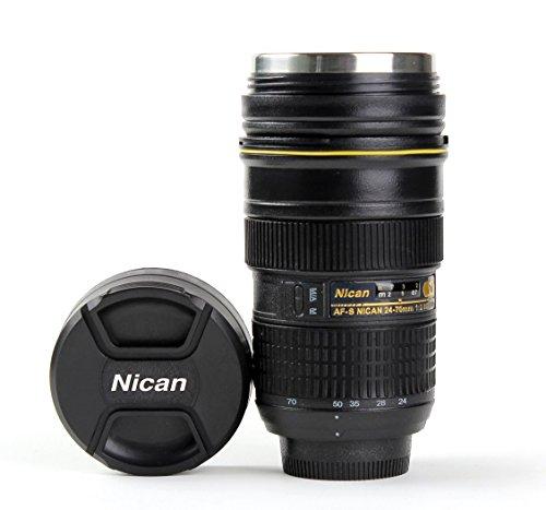 Taza termo tipo objetivo Nikon 2470taza–Portalápices cámara–adaptout marca francesa