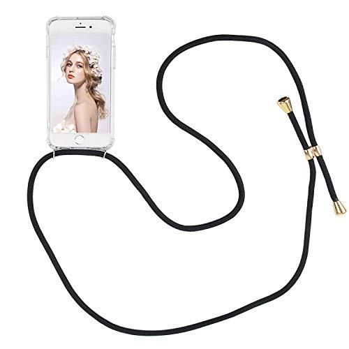 Imikoko Handykette Hülle für iPhone 7 Plus/8 Plus Necklace Hülle mit Kordel zum Umhängen Silikon Handy Schutzhülle mit Band - Schnur mit Case zum umhängen