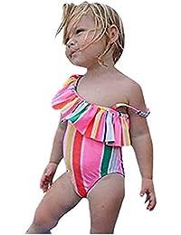 Sommer Regenbogen Bademode Kleinkind Kinder Baby Mädchen Bikini Tutu Badeanzug Schwimmen Kinder Infant Bademode Kleidung Schwimmkleidung Babykleidung Mädchen