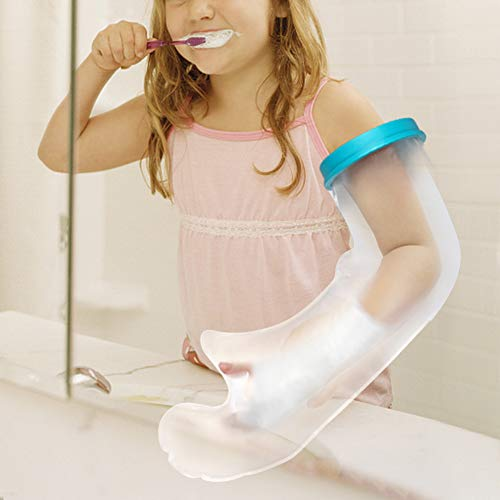 Gipsarmschutz für Duschkinder, wasserdicht für Kinder, Gipsverband, zum Wickeln von Verletzungen, Handgelenk, Arm, Ellbogen beim Baden mit robustem PVC-Material (52 cm)
