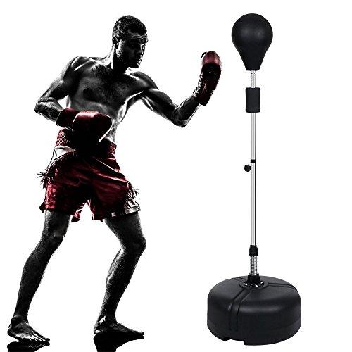 Qulista Punchingball höhenverstellbar von 144~156cm Boxball Standboxbirne mit Fuß Boxing Pro One System