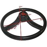 Enfield County de goma material 3habló volante Negro para Massey FERGUSON tractores