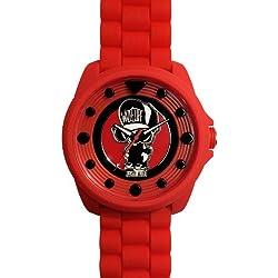 Wize &Ope-BIG - 11-Biggy-Kleintierheim-Armbanduhr Analog Silikon Rot