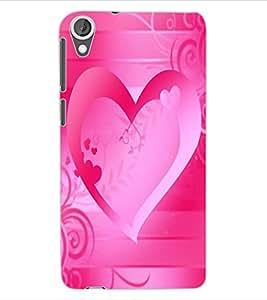 ColourCraft Love Heart Design Back Case Cover for HTC DESIRE 820