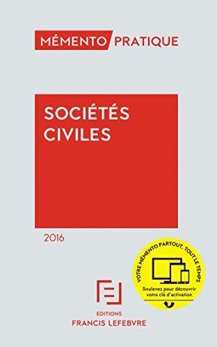 Mémento Sociétés civiles 2016