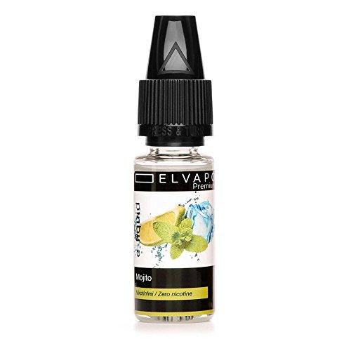 Elvapo Premium E-LIQUID Mojito Flasche mit extra schmalem Tropfaufsatz, 10 ml