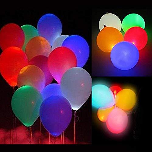 allons Geburtstag Hochzeit Party Deko, HanDingSM 5 Farbige Licht Bunt schöne LED Luftballons 24 Stunden Leuchtdauer Weihnachten Party Geburtstag Fasching Valentinstag (Bunt, 15PCS) ()