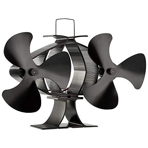 Zennox Doble ventilador de estufa de 6 cuchillas Accionada con calor Respetuoso...