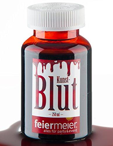 Kunstblut Filmblut Blut Rot 250ml Flasche - Künstliches Blut für Halloween - Vampirblut Zombie Vampir Fasching (Haut Make Up Gruselige)