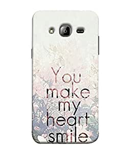 FUSON Designer Back Case Cover for Samsung Galaxy J7 J700F (2015) :: Samsung Galaxy J7 Duos (Old Model) :: Samsung Galaxy J7 J700M J700H (Blue Background Quote Love Heart Messages Crazy Express Sorry )