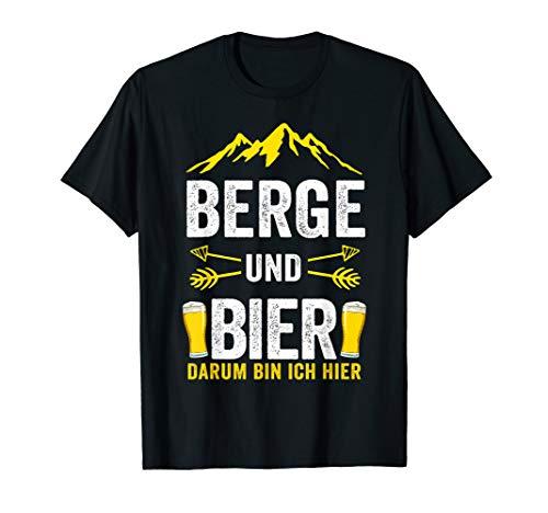 Berge und Bier Darum bin ich hier Skiurlaub Berg Skifahren T-Shirt