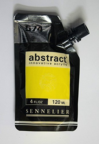Sennelier Abstract Innovative Acrylfarbe Farbbeutel 120ml - 574B Primäres Gelb Hochglanz
