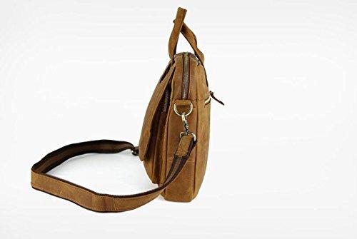 DJB/Vintage Herren Leder Casual Herren Handtasche Schulter der Kuh Leder Tasche hellbraun