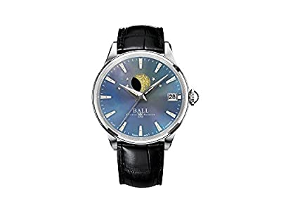 Ball Trainmaster Moon Phase Ladies Automatic Watch, Ball RR1801, Blue