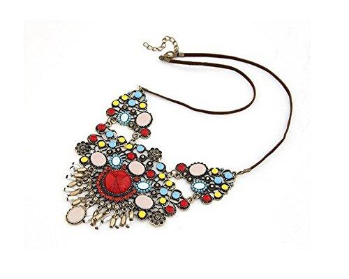 Halskette Hochzeit Abend Kette Statementkette Charms Necklace Dirndlkette NEU