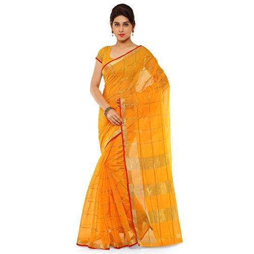 Craftsvilla Art Silk Saree with Blouse Piece (MKVSF19185290310_Yellow_Free Size)