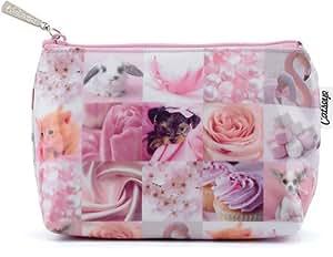 Jellycat - Catseye Pink Gallery Cosmetics Bag, 14cm x 20cm