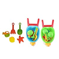 UMKYTOYS Kids Small Beach Wheelbarrow With Tools