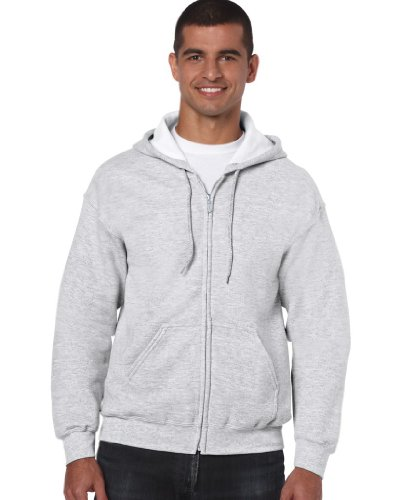 Full Zip Sweat (Gildan Heavyweight Full Zip Hooded Sweat L,Ash)