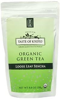 TASTE OF KYOTO Sencha Green Tea, Bulk Premium Loose Leaf, 8.80 Ounce