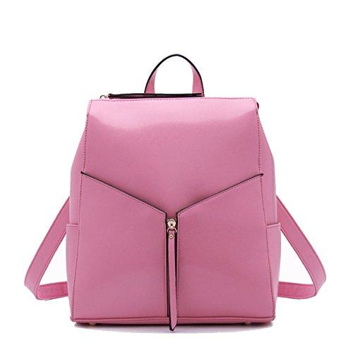 Ms. Cera Di Petrolio Zaino In Pelle Pink