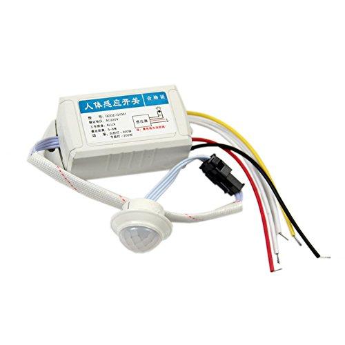 Iycorish IR-Infrarot-Modul Weisser Koerper-Sensor Intelligente helle Lampen Bewegungs-Sensor-Schalter 220V (Bewegungs-sensors 220v)