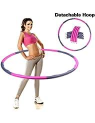 Hula Hoop 1kg démontable tour de taille minceur doux souple équipements de sport 96cm de large pour d'exercice et fitness.