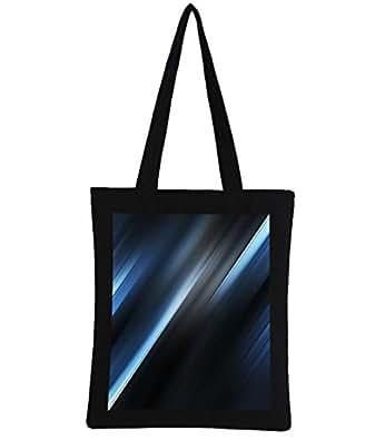Snoogg Blue And Grey Rays Digitally Printed Utility Tote Bag Handbag Made Of Poly Canvas