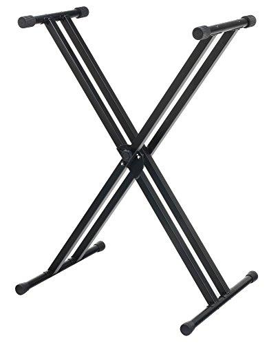 McGrey KS-200 X-Keyboardständer doppelstrebig (höhenverstellbar in 5-Stufen, klappbar, stabil) schwarz