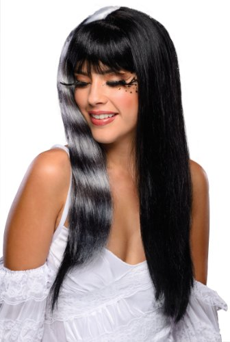 Rubies Gothic Black White Kitty Cat Wig With Bangs Adult One (Wigs Kitty)