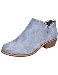QUICKLYLY Botas de Mujer,Botines para Adulto,Zapatos Otoño/Invierno 2018,Moda