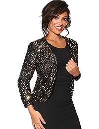 Amazon.es  chaqueta lentejuelas - Mujer  Ropa cbb86eac2623