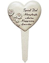 David Fischhoff especial Papá corazón de diamantes juego Memorial tema, piedra, color crema
