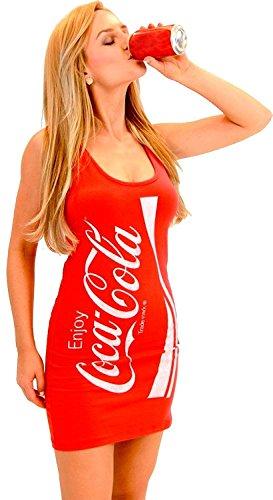 Coke Coca-Cola rot Tunic Tank Kleid (Junior Small)