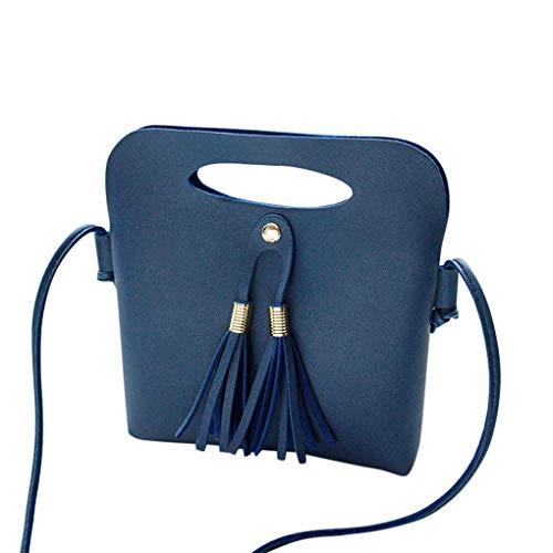 Dorical Damen Mini Umhängetasche Damen Unregelmäßige Quaste Kleine Crossbody Handtasche Beuteltasche Handytasche Kuriertasche Tragetasche Taschen Handtaschen Stylische Tote Bag für Frauen(Blau)