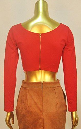 C.X Trendy -  Maglia a manica lunga  - Donna Red