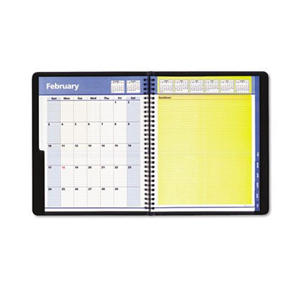QuickNotes Recycled Academic Weekly/Monthly Planner, Black, 8 x 9 7/8, 2014-2015, Sold as 1 Each