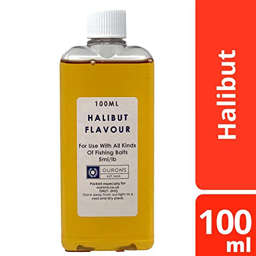 100ml Fishing Bait Flavours Strong Concentrate Liquid For All Types Of Bait (Halibut)